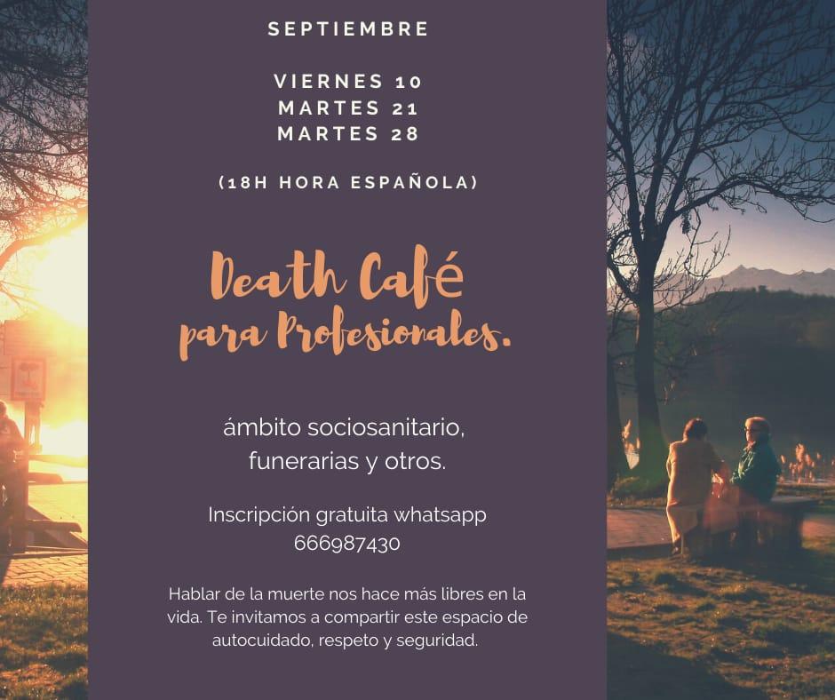 death cafe para profesionales socio sanitario