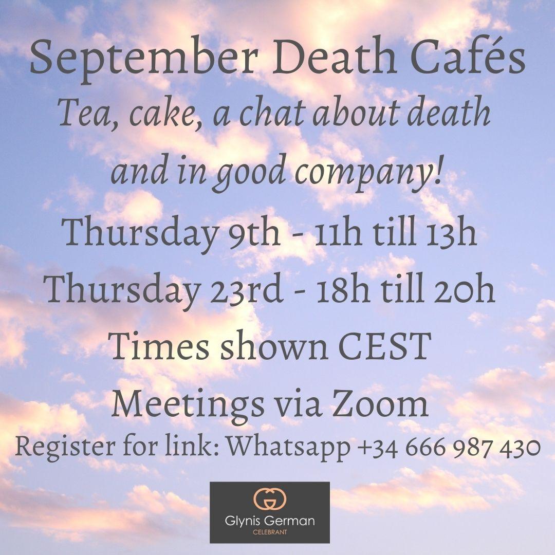 death cafe english glynis german